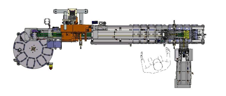 Etikettieranlage für Aluminiumbeutel SRD-ALX924
