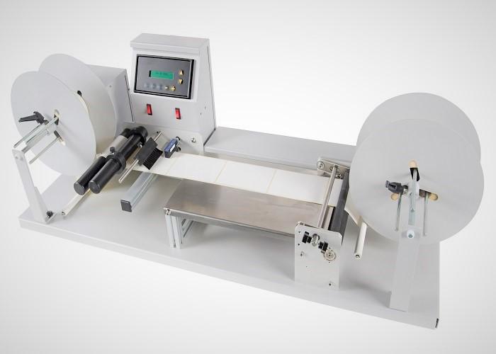 Etikettenzähler / Etikettenumspuler JR-300-INK-JET zur variablen Bedruckung mit einem Drucker