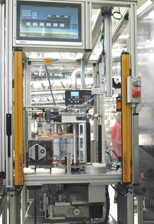 Kartuschenetikettierer SRD-eco250für Zweikomponeten-Kartuschen