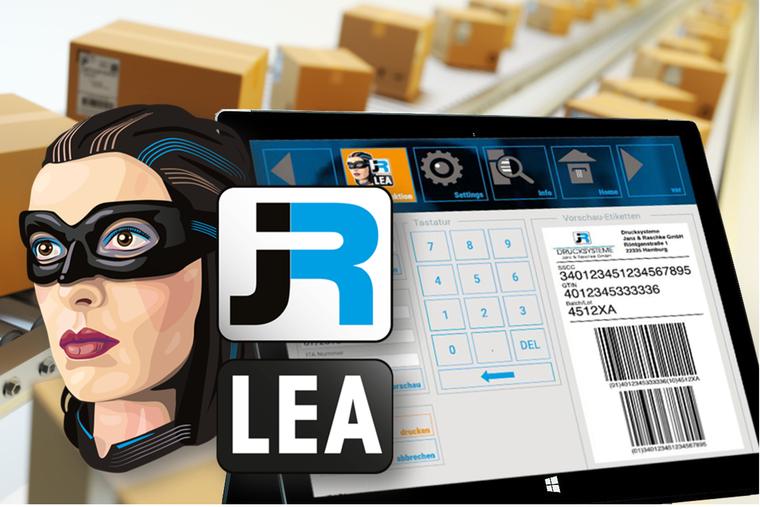 Etikettendrucksoftware JR-LEA