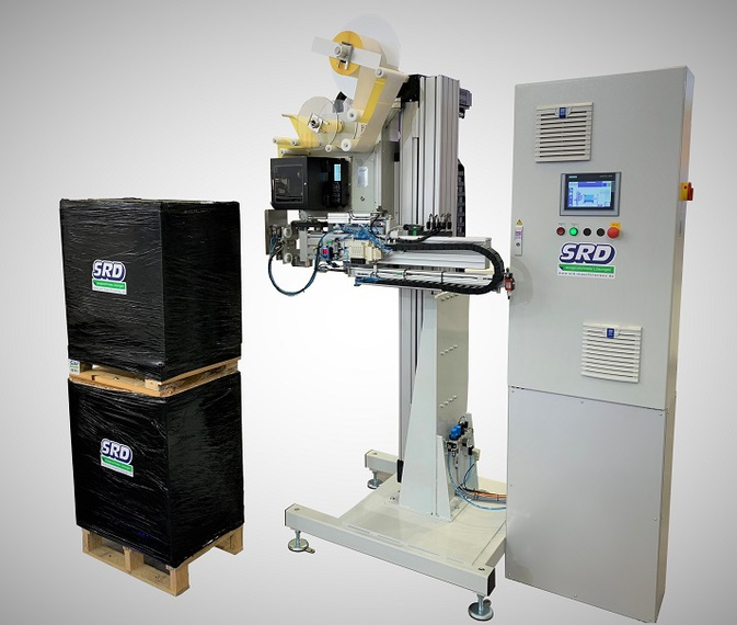 Palettenetikettierer SRD-A128-H mit vertikaler Verfahrachse
