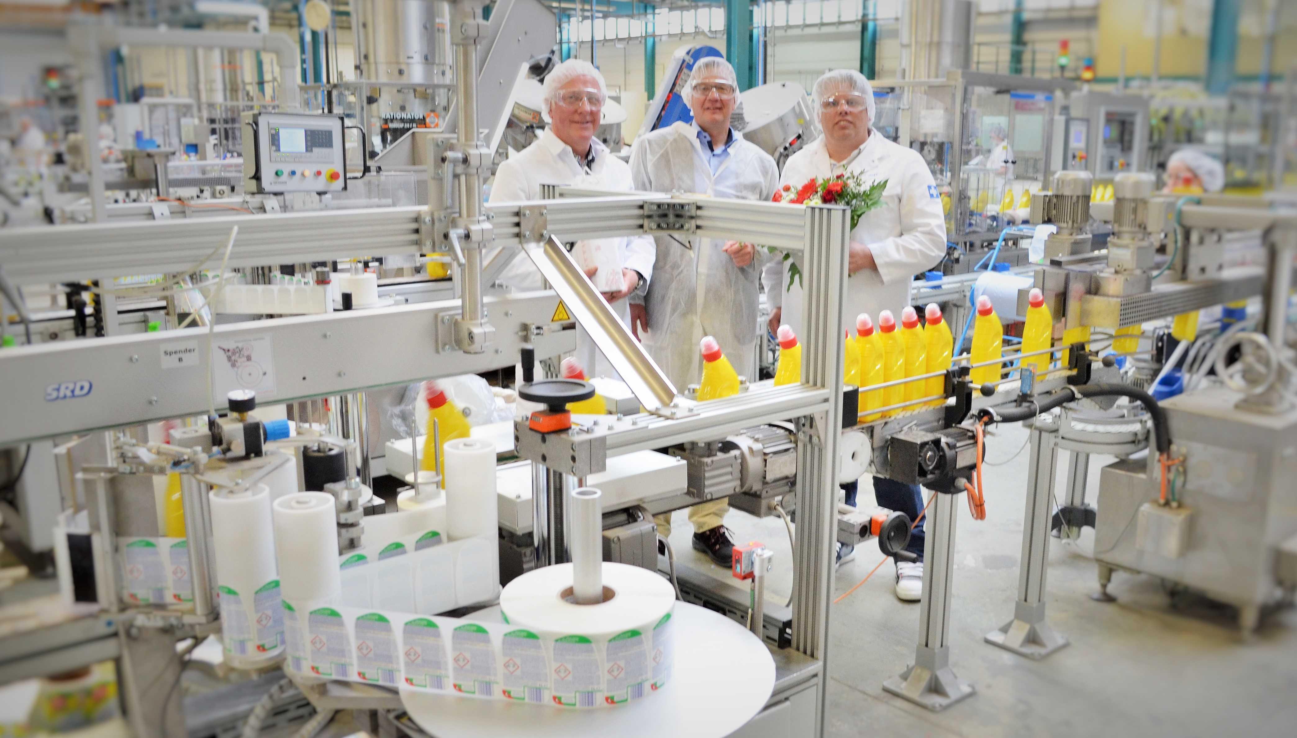 Übergabe Flaschenetikettierer